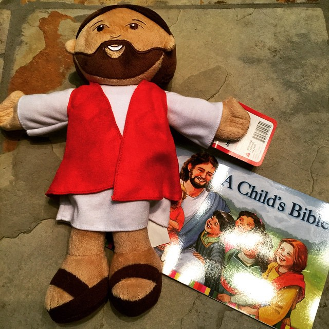 """Plush Jesus"" photo by Lisa M. Hendey"