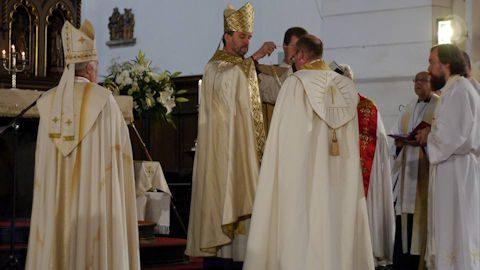Abp Vanags presents pectoral cross