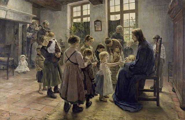 640px-Fritz_von_Uhde_-_Lasset_die_Kinderlein_zu_mir_kommen,_1884_(Leipzig)