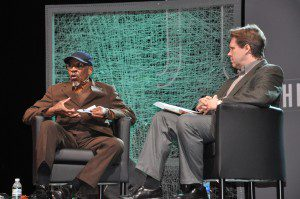 My Interview of Dr. John M. Perkins at The Justice Conference 2012. Photo courtesy of Cornelia Becker Seigneur