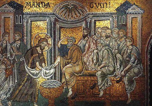 Christ_washes_apostles'_feet_(Monreale) (2)
