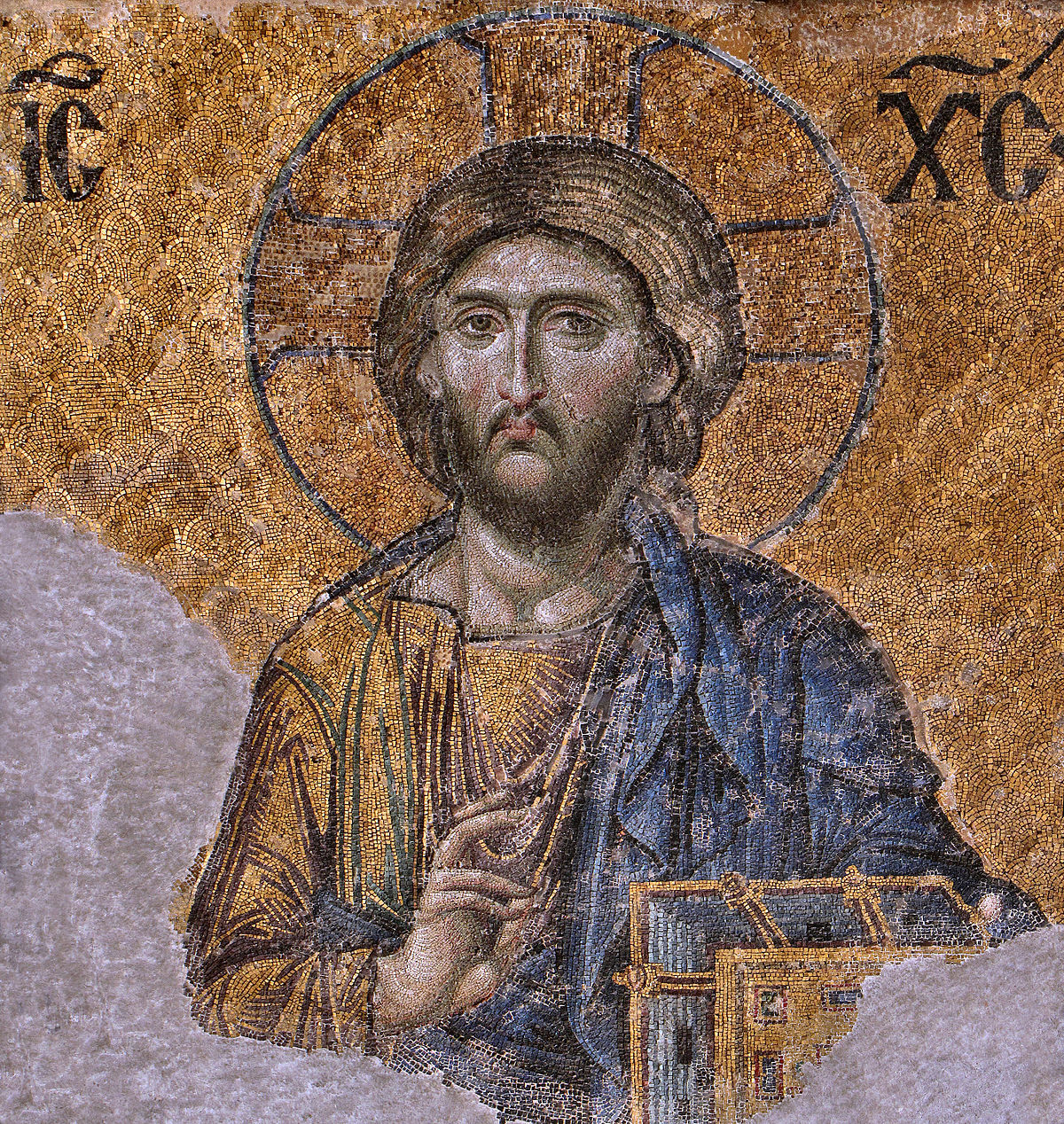 Christ Pantocrator Mosaic from Hagia Sophia; Wikipedia