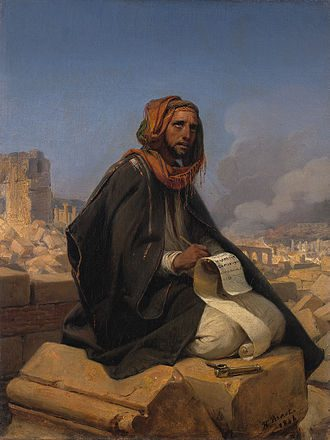 Horace Vernet, Jeremiah on the ruins of Jerusalem (1844)
