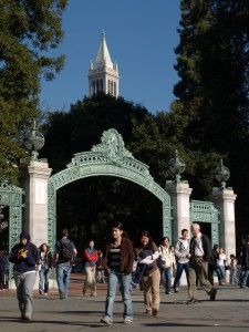 UC Berkeley Sather Gate with Campanile behind