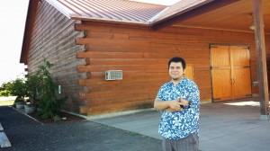 My son Noe at Rasa Winery in Walla Walla