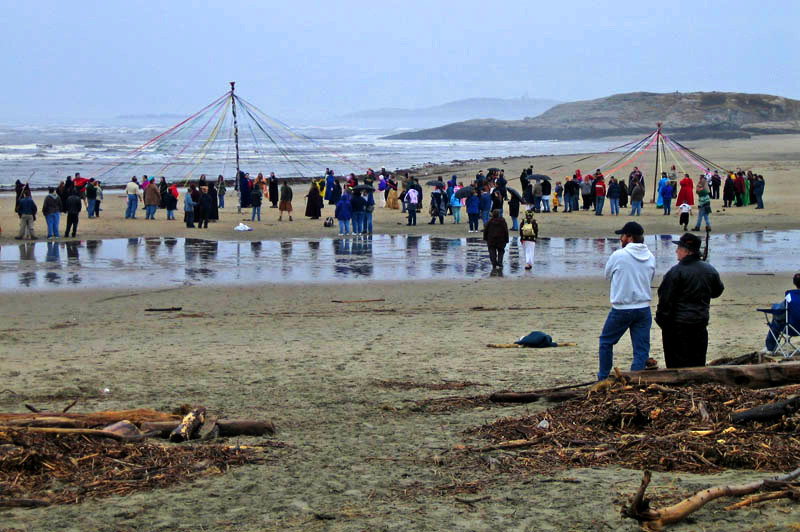 2 Maypoles During One Of The Cooler Years At Popham Beach Photo By Michael