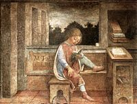 The Young Cicero Reading by Vincenzo Foppa (fresco, 1464), now at the Wallace Collection