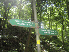 Signpost on Robin Hood Road near Whatstandwell, Derbyshire by Eamon Curry