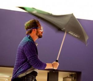 SENZ umbrella testing - photo by Eelke Dekker
