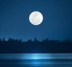 Moon over water (shutterstock)