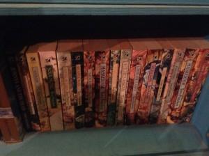 My collection of Pratchett books