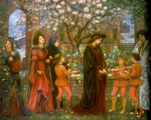 The Enchanted Garden of Messer Ansaldo by Marie Spartali Stillman