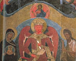 Sophia icon, By Ждан Дементьев, Василий Новгородец. [Public domain], via Wikimedia Commons