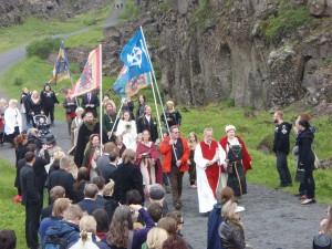 """""""Þingblót 2009"""" by Photograph by Lenka Kovářová. Licensed under CC BY-SA 3.0 via Wikimedia Commons. -"""
