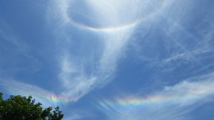 """""""A Double Rainbow Halo on June 1, 2014, at 1-57 PM"""" by BlueHypercane761 - Own work. Licensed under CC BY-SA 3.0 via Commons - https://commons.wikimedia.org/wiki/File:A_Double_Rainbow_Halo_on_June_1,_2014,_at_1-57_PM.jpg#/media/File:A_Double_Rainbow_Halo_on_June_1,_2014,_at_1-57_PM.jpg"""