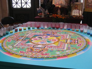 """""""Amazing sand mandala"""" by Mai Le from San Francisco, CA, USA - Flickr. Licensed under CC BY 2.0 via Commons - https://commons.wikimedia.org/wiki/File:Amazing_sand_mandala.jpg#/media/File:Amazing_sand_mandala.jpg"""