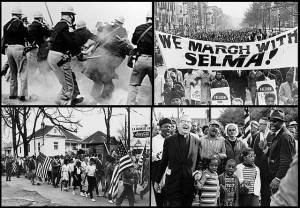 By User:Mitchumch - Top left: File:Bloody Sunday-Alabama police attack.jpegTop right: File:We March With Selma cph.3c35695.jpgBottom left: File:Selma to Montgomery Marches.jpgBottom right: File:Abernathy Children on front line leading the SELMA TO MONTGOMERY MARCH for the RIGHT TO VOTE.JPG, Public Domain, CC0