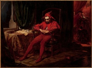 Stańczyk by Jan Matejko The jester is the only person at a 1514 royal ball troubled by the news that the Russians have captured Smolensk. (Public domain image)