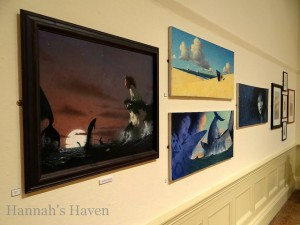 "Gary Blythe, paintings from ""The Whales' Song"". Photo by Plum Leaves on Flickr"