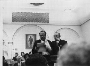 Junior Apostle Gordon B. Hinckley and Ruffin Bridgeforth, October 19, 1971