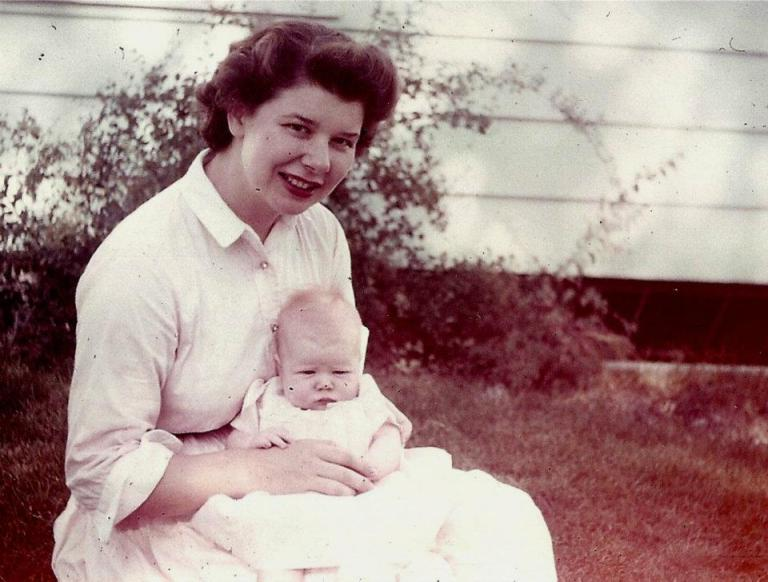 mom and baby me