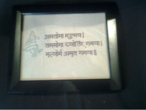 hindu prayer cross stitch
