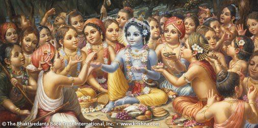 http://www.krishna.com/why-offer-krishna-vegetarian-food