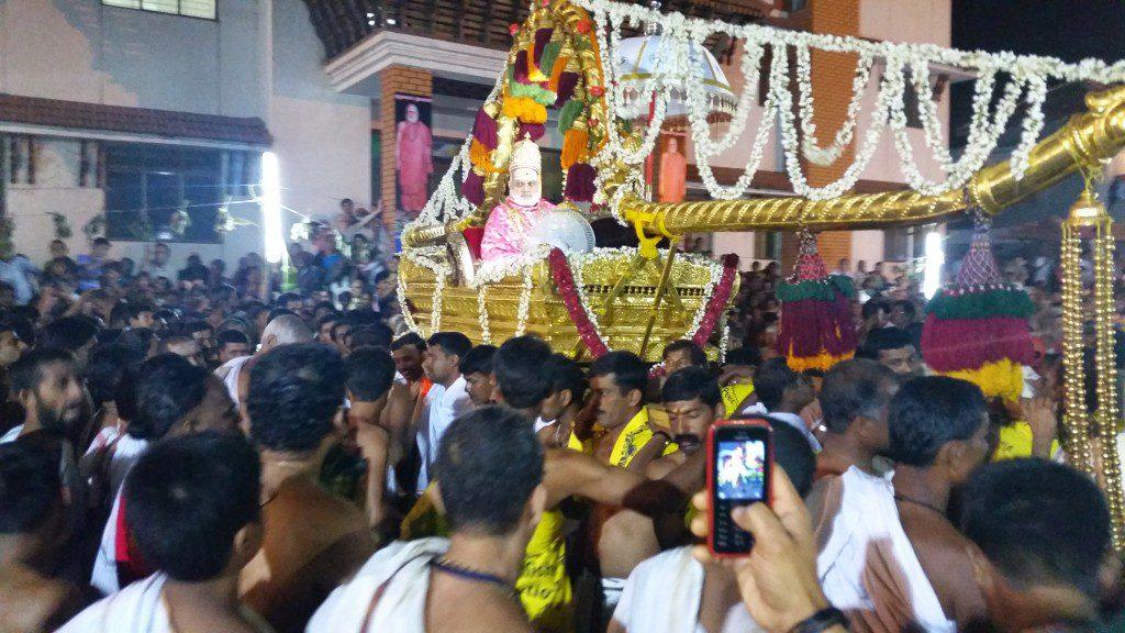 ShriBharati Tirtha on pallanquin