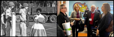 Left: Elizabeth Eckford. Right: Ellen Di Giosia