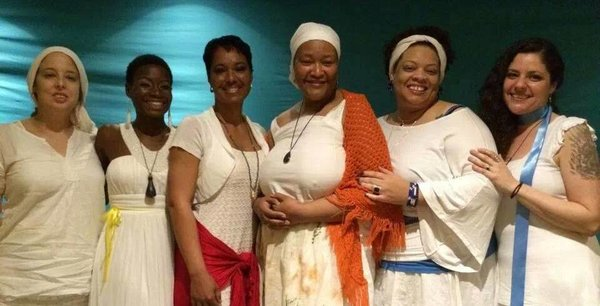Incredible cast of A Black Woman Speaks, at Pantheacon, directed by Luna Pantera
