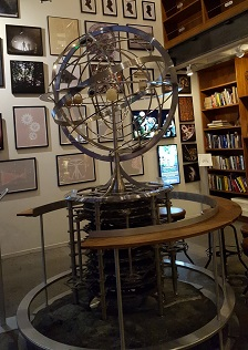 A model of the orrery that will be part of the completed Long Now clock.