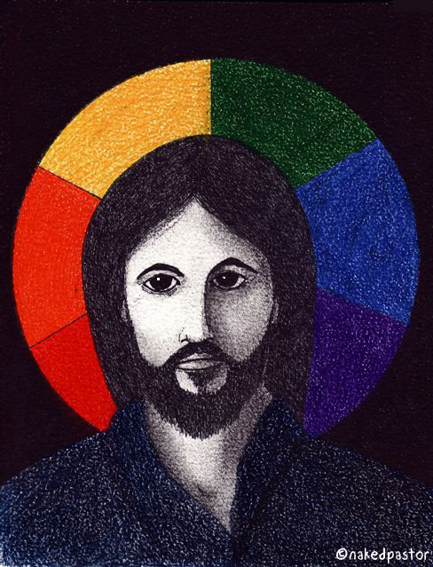 """Drawing of Jesus called """"Includer""""."""