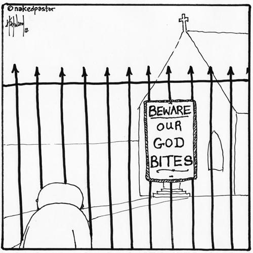 beware our god bites!
