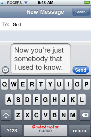 """Gotye's """"now you're just somebody that I used to know""""."""