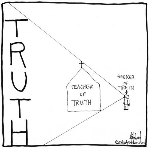 church as teacher of the truth cartoon by nakedpastor david hayward