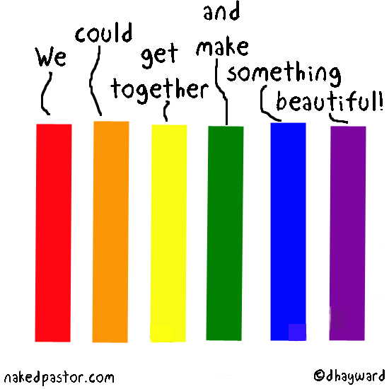 lgbt colors unite cartoon by nakedpastor david hayward