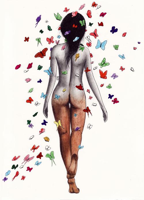 """Sophia """"metamorphosis"""" drawing by nakedpastor david hayward"""