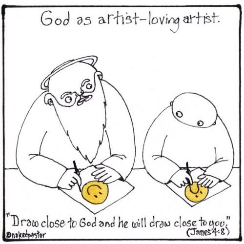 draw near to god drawing cartoon by nakedpastor david hayward