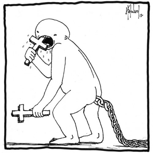 from freedom to chains cartoon drawing by nakedpastor david hayward