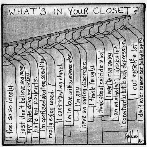 what's in your closet cartoon drawing by nakedpastor david hayward