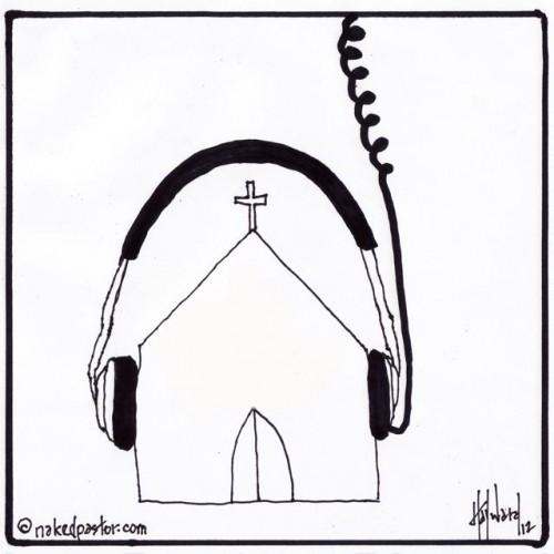 hear from god cartoon drawing by david hayward nakedpastor