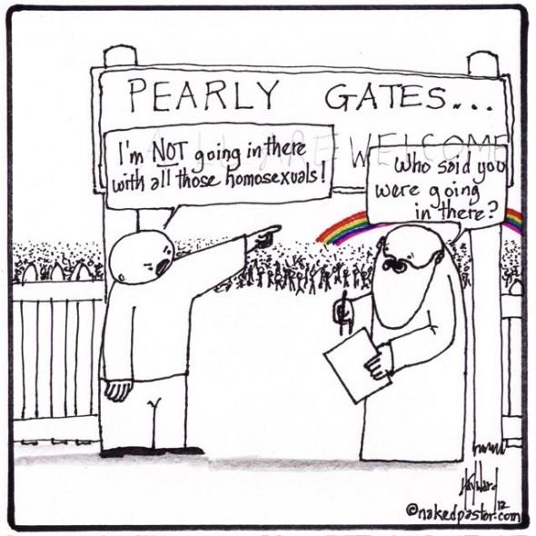 heavenly homosexuals cartoon by nakedpastor david hayward