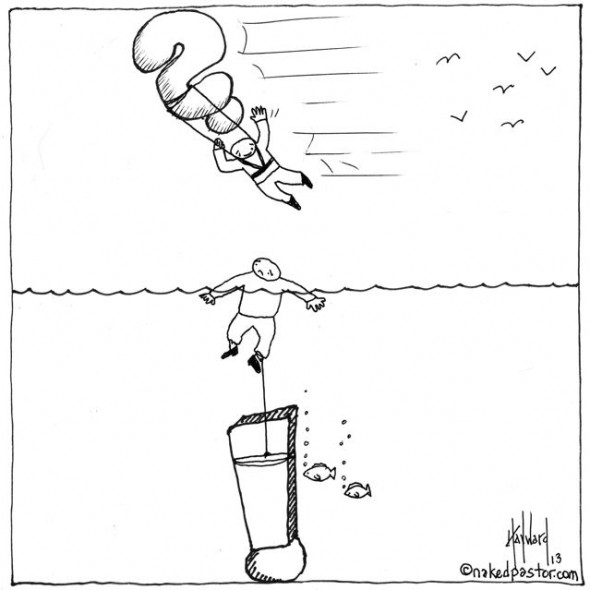 stuck or soaring cartoon by nakedpastor david hayward