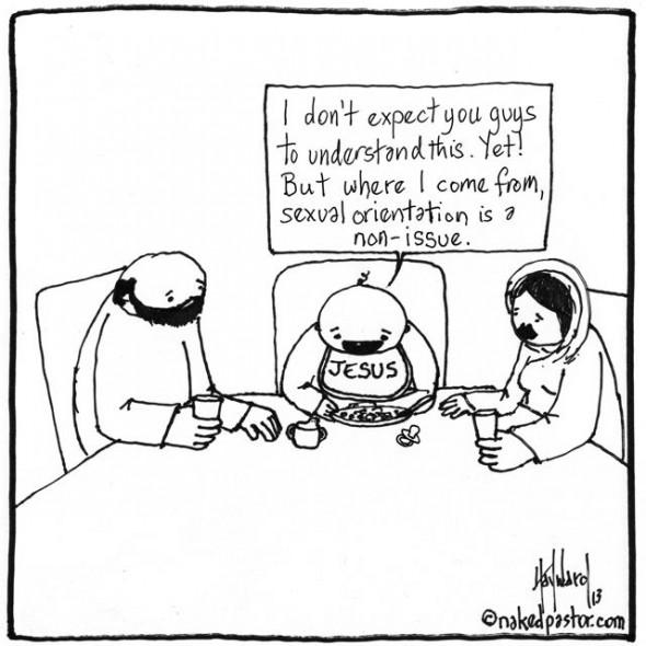 sexual orientation in heaven cartoon by nakedpastor david hayward