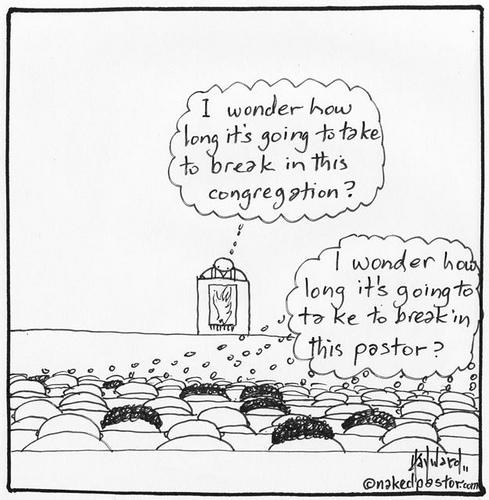 breaking in the pastor or the church cartoon by nakedpastor david hayward