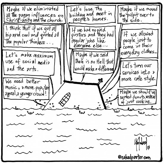 church solutions cartoon by nakedpastor david hayward