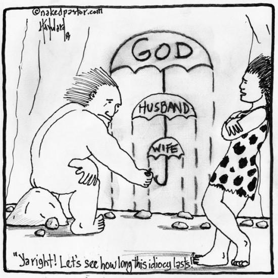 primitive theology cartoon by nakedpastor david hayward