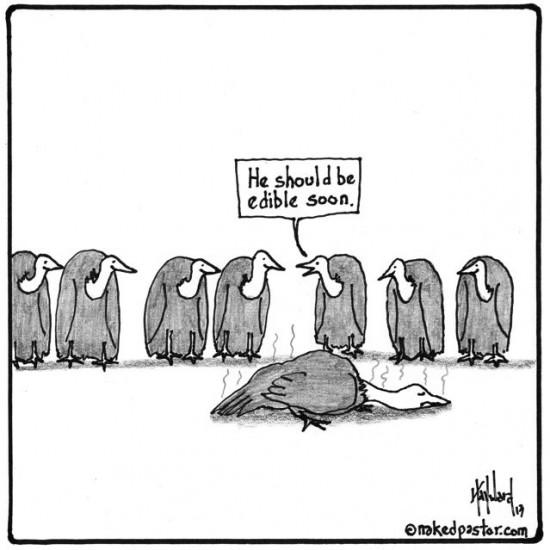 vulture edible soon cartoon by nakedpastor david hayward