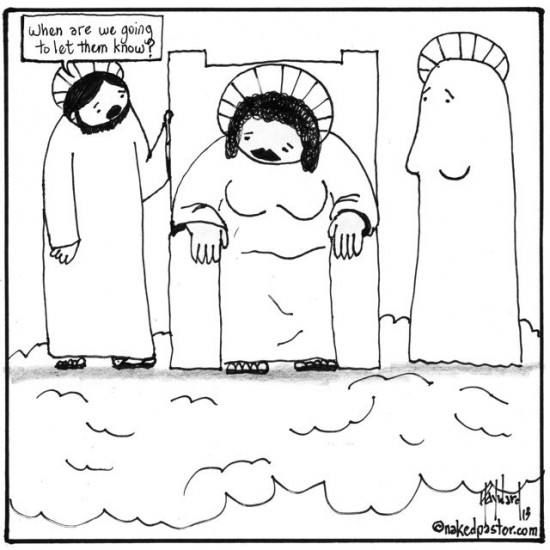 god as a woman cartoon by nakedpastor david hayward