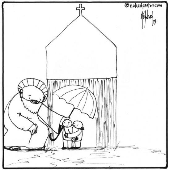 protection from the church cartoon by nakedpastor david hayward